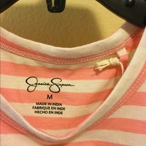 NWT Jessica Simpson STRIPE girl power screen NWT